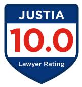 Justia badge rating 10